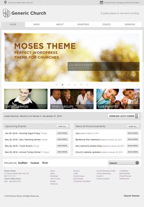 Moses Church WordPress Theme
