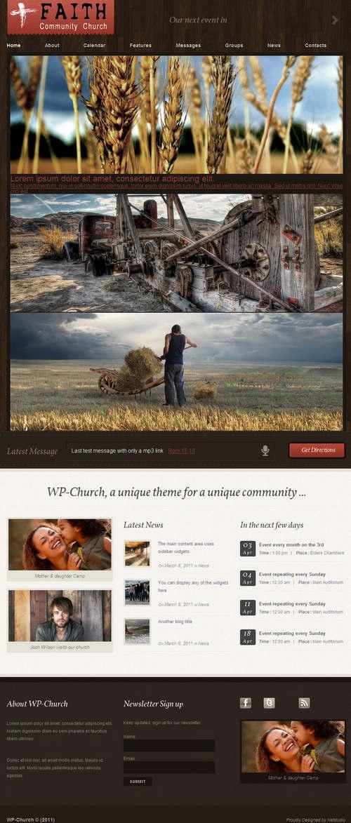 WP-Church Community WordPress Theme