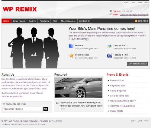 WPRemix WordPress Theme