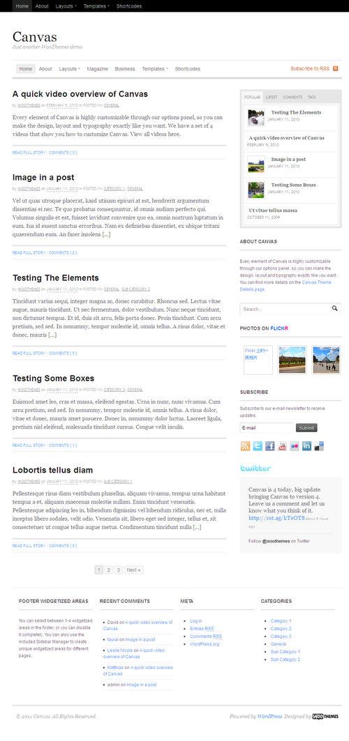 Canvas V4 Premium WordPress Theme
