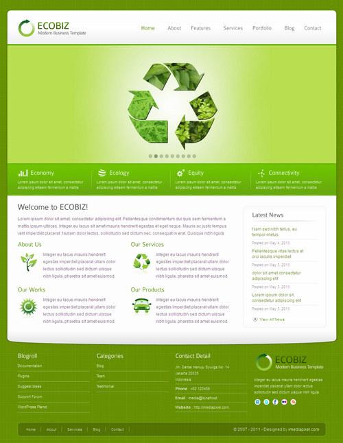EcoBiz WordPress Theme