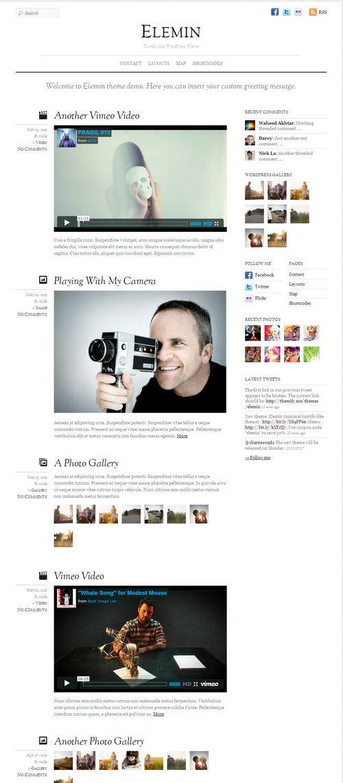 Elemin Micro Blog WordPress Theme