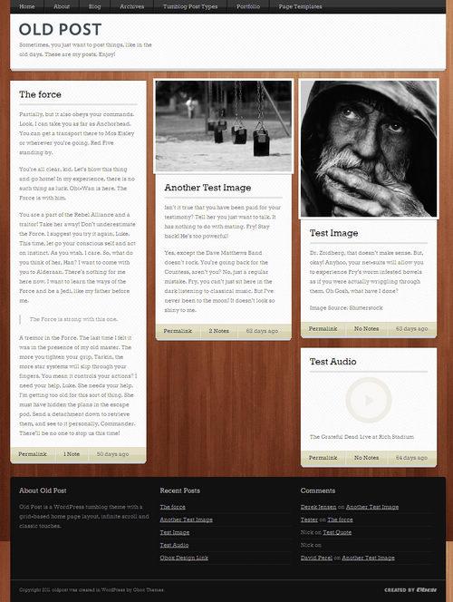 Old Post WordPress Tumblog Theme