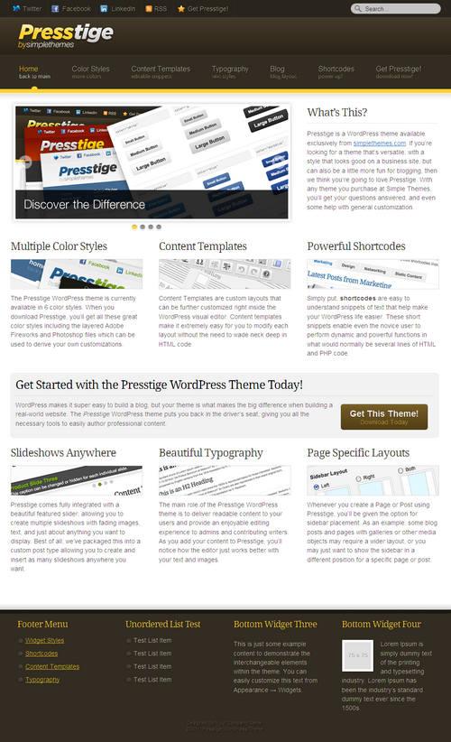 Presstige WordPress Theme