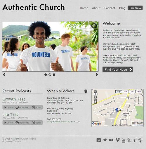 Authentic WordPress Theme