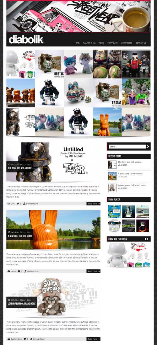 Diabolik WordPress Theme