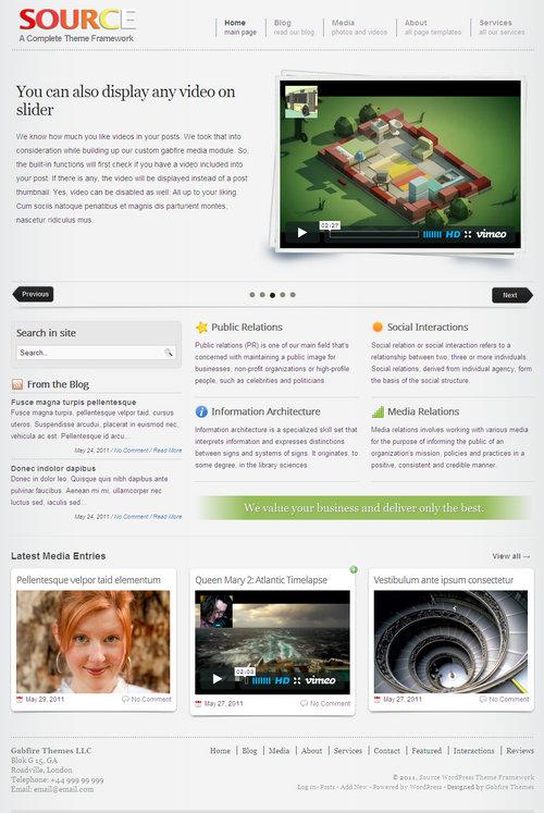 Source WordPress Theme