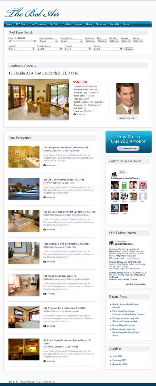The Bel Air WordPress Theme