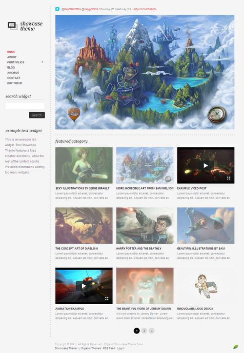 The Showcase WordPress Theme