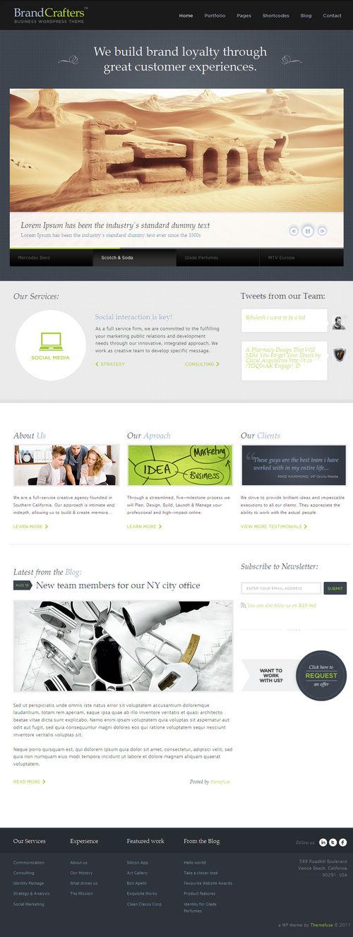 Brand Crafters WordPress Theme