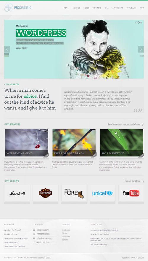 Progressio WordPress Theme