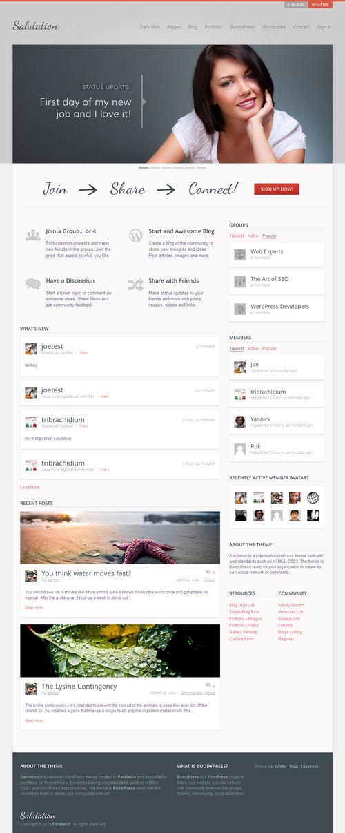 Salutation WordPress Theme
