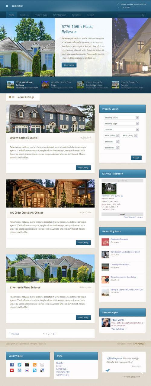Domestica WordPress Theme