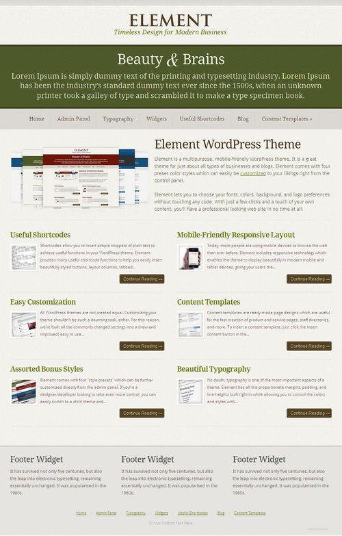 Element WordPress Theme