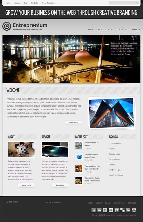 Entreprenium WordPress Theme