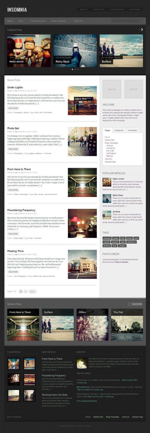 Insomnia WordPress Theme