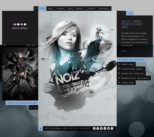 Nocturnal WordPress Theme