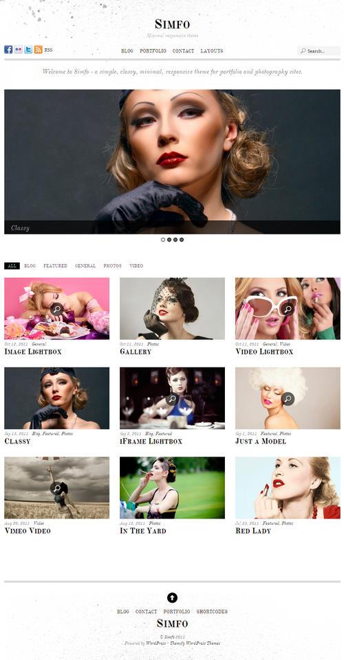 Simfo WordPress Theme