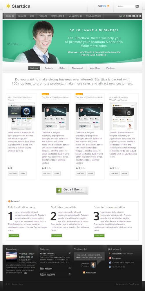 Starttica WordPress Theme