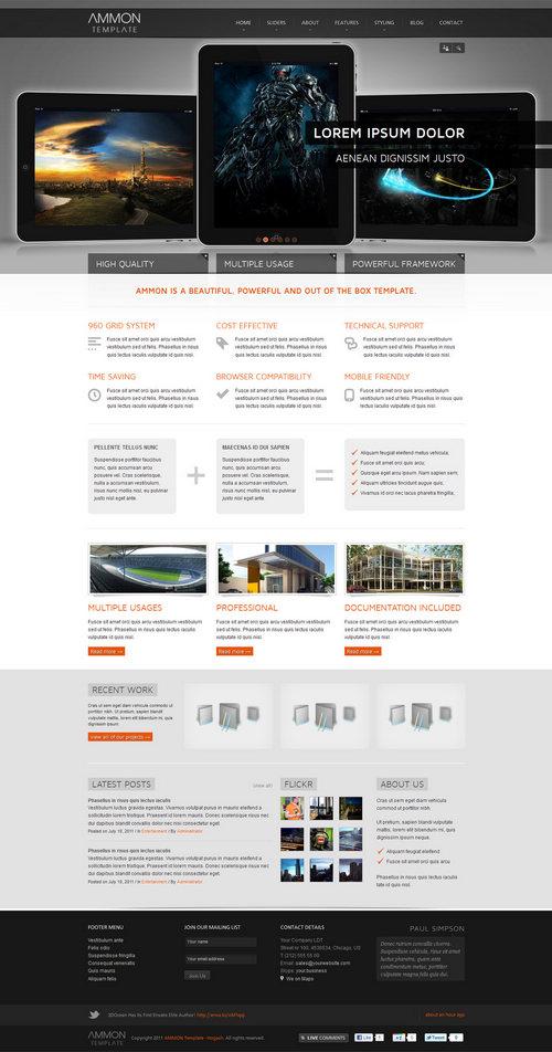 Ammon WordPress Theme