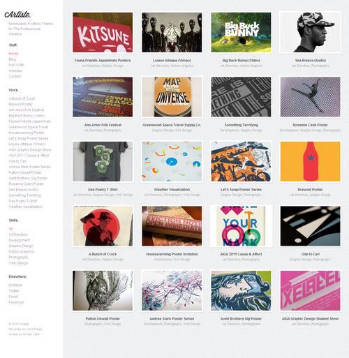 Artiste WordPress Theme
