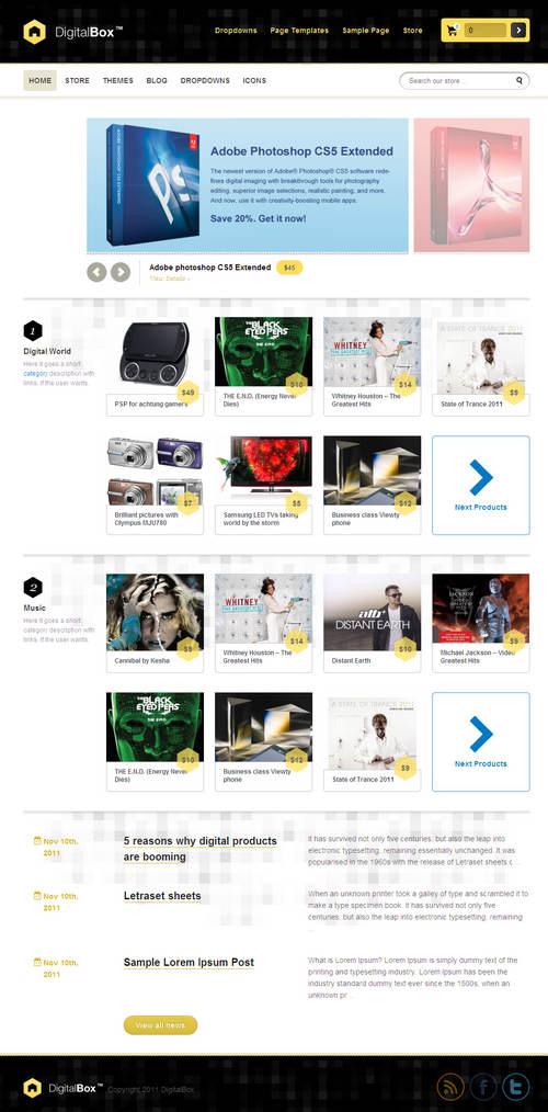DigitalBox WordPress Theme