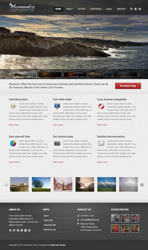 Momento WordPress Theme