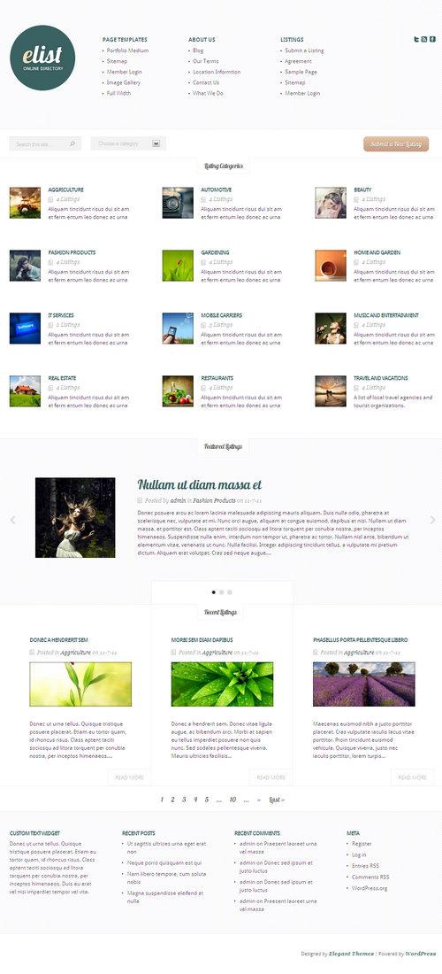 eList WordPress Theme