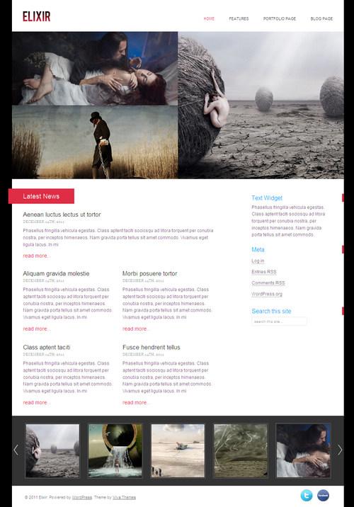 Elixir WordPress Theme