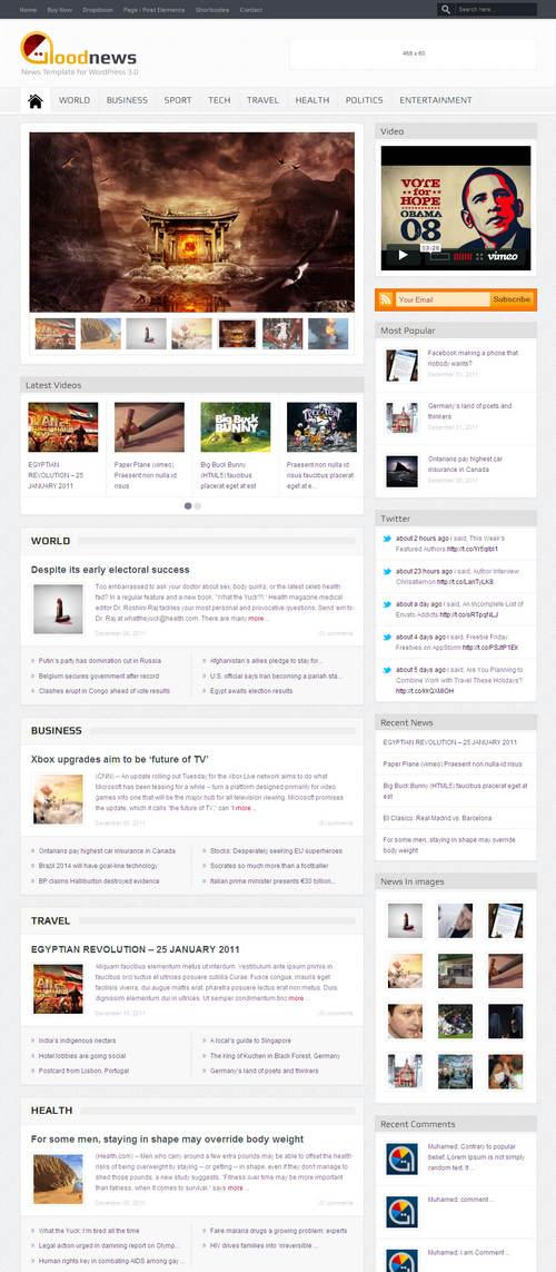 Goodnews WordPress Theme
