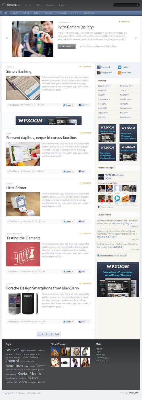 TechCompass WordPress Theme