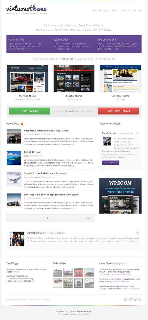 Virtuoso WordPress Theme