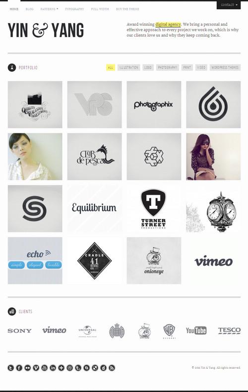 Yin & Yang Portfolio WordPres Theme