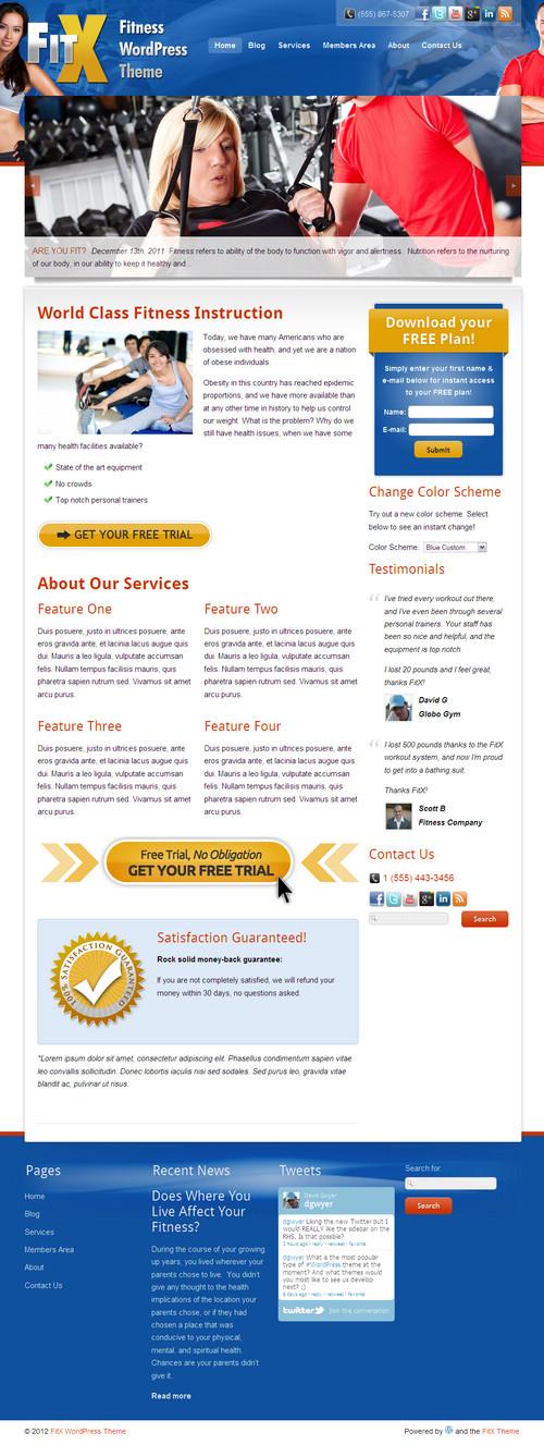 FitX WordPress Theme