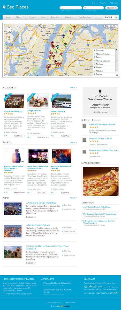 GeoPlaces V4 WordPress Theme