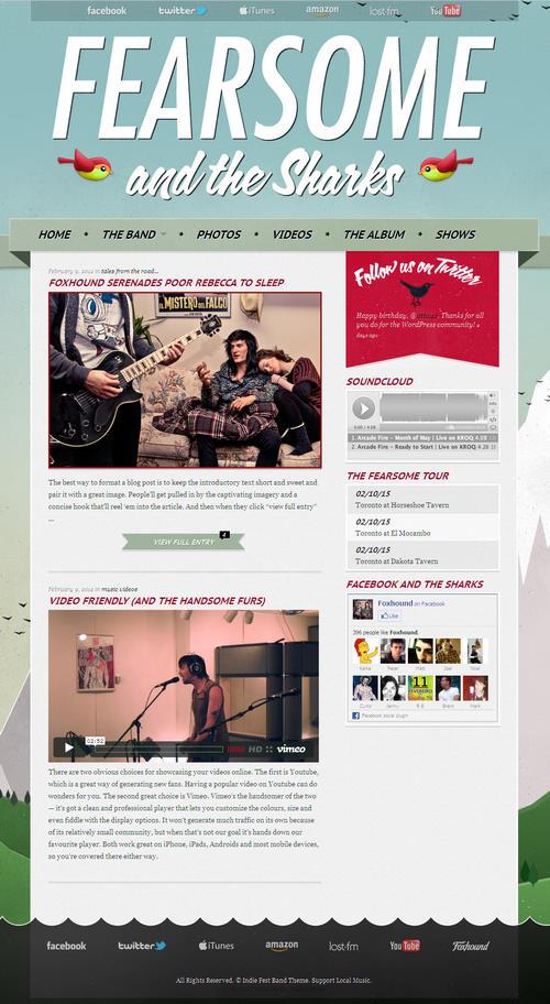 Indie Fest WordPress Theme
