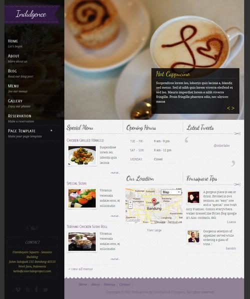 Indulgence WordPress Theme