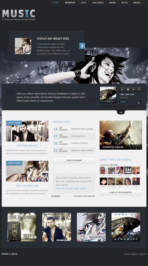 Music- Musicians theme & Facebook App