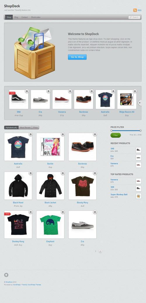 ShopDock WordPress Theme