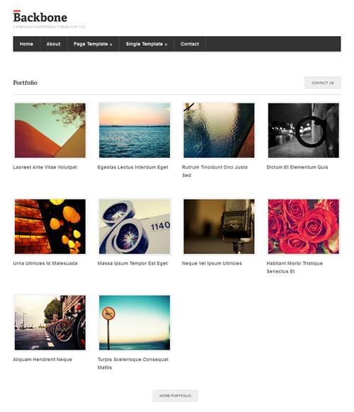 backbone portfolio layout