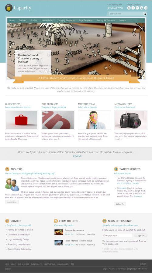 Capacity WordPress Theme