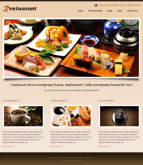 CoRestaurant WordPress Theme