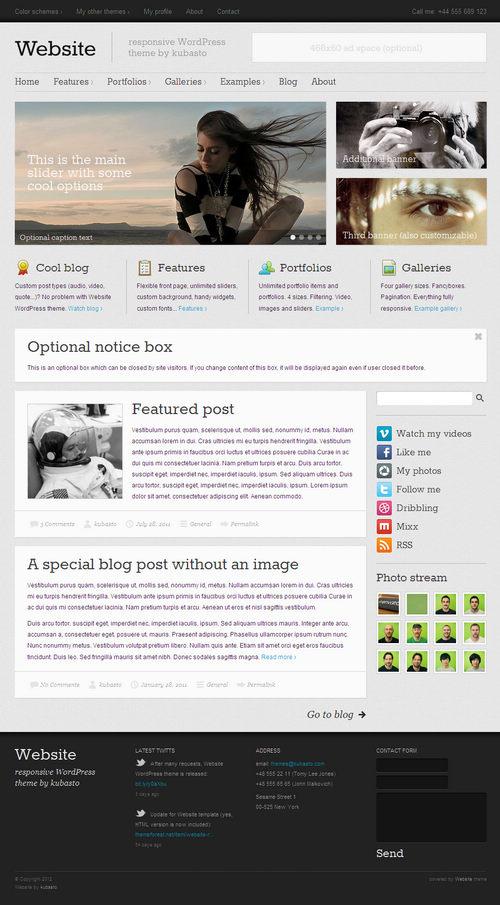 Website WordPress Theme