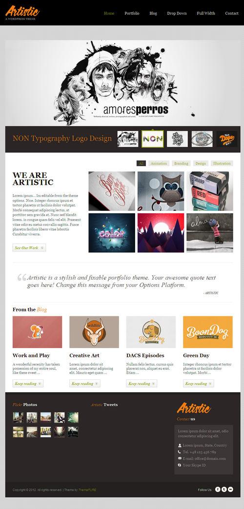 Artistic WordPress Theme