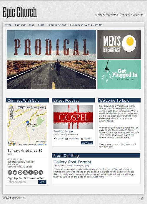 Epic Church WordPress Theme