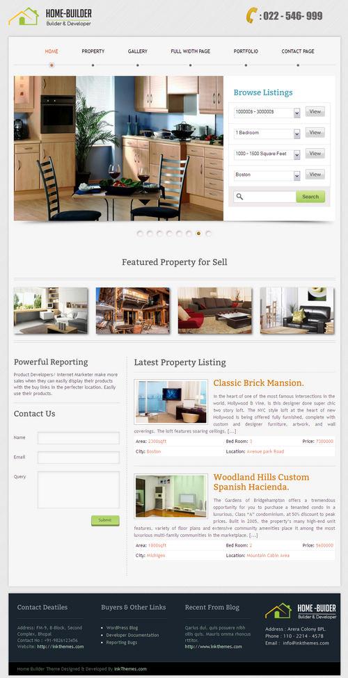 HomeBuilder WordPress Theme