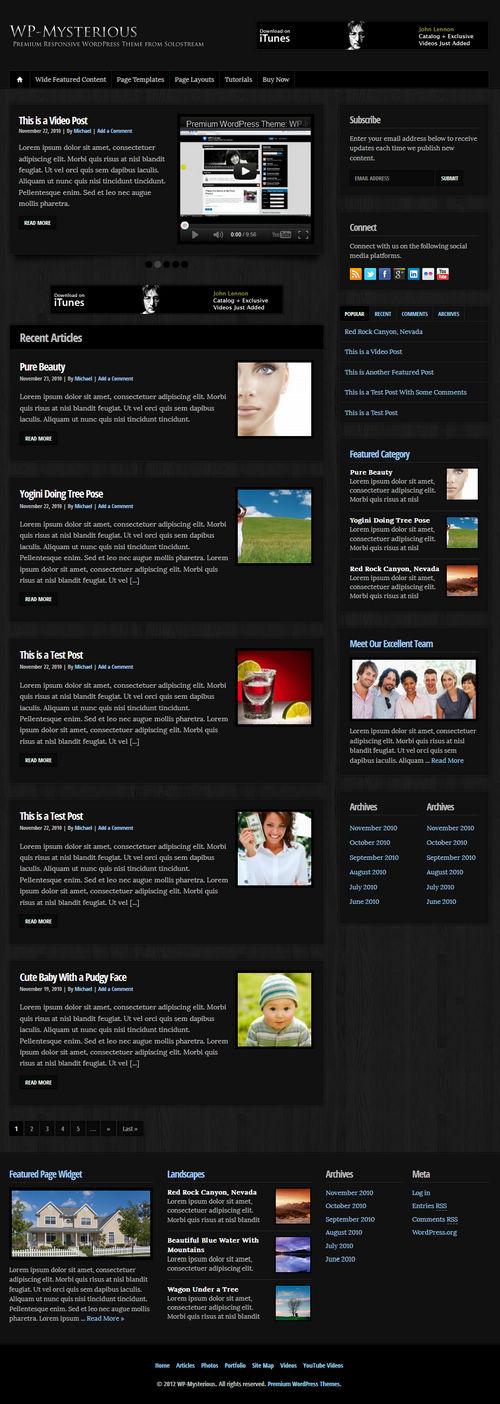 WP-Mysterious WordPress Theme