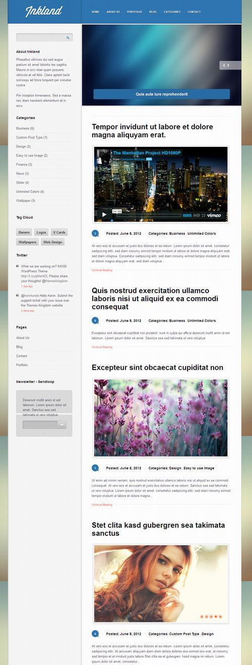 Inkland WordPress Theme