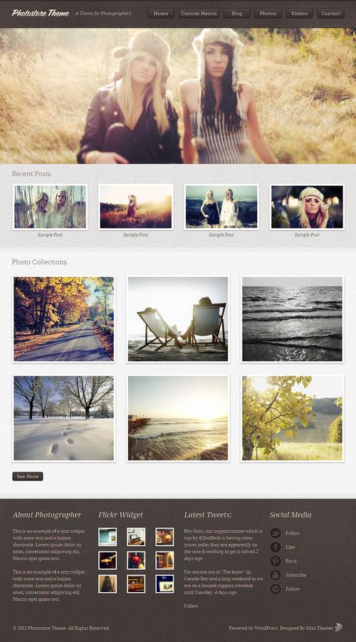 Photostore WordPress Theme