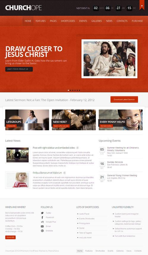 Churchope WordPress Theme
